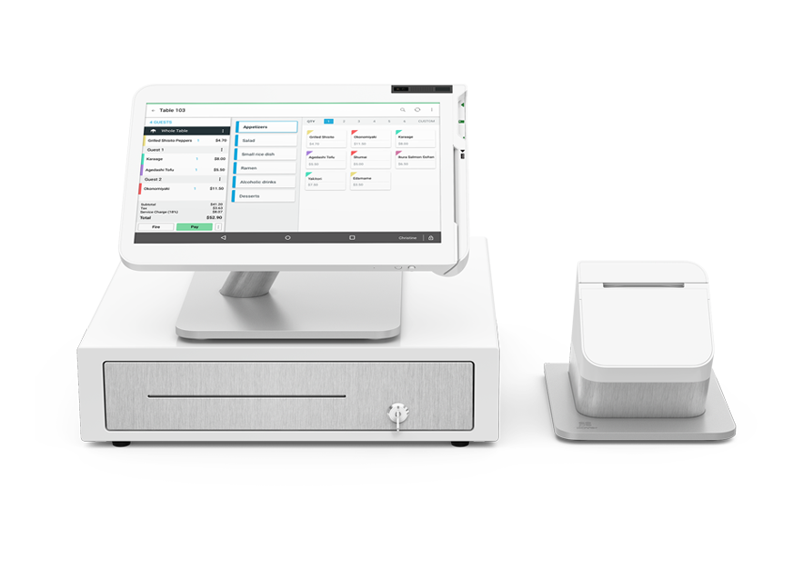 Clover point of sale with register and printer